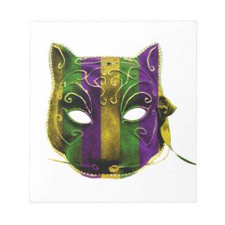 Catwoman Mardi Gras Mask Notepad