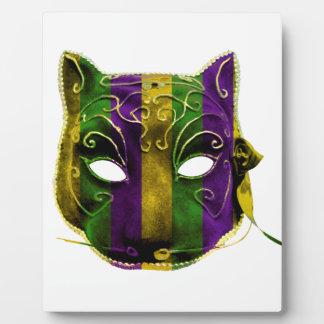 Catwoman Mardi Gras Mask Plaque