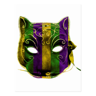 Catwoman Mardi Gras Mask Postcard
