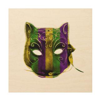 Catwoman Mardi Gras Mask Wood Wall Decor