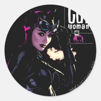 Catwoman Round Sticker