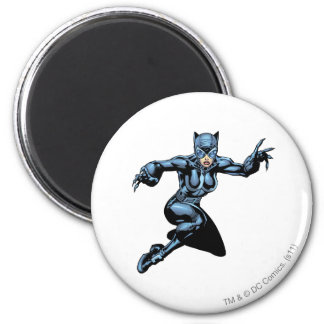 Catwoman with Claws 6 Cm Round Magnet
