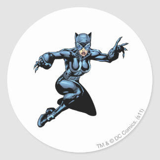 Catwoman with Claws Round Sticker