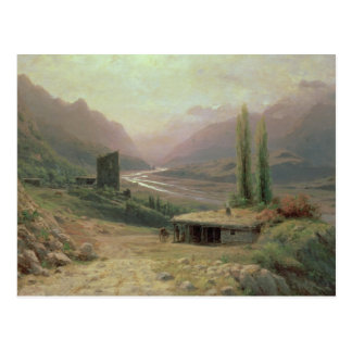 Caucasian Canyon, 1893 Postcard