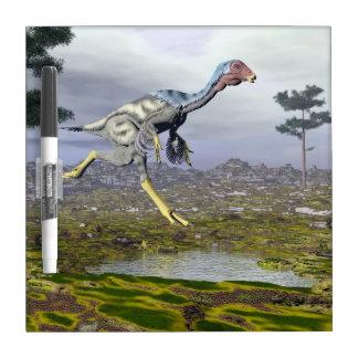 Caudipteryx dinosaur - 3D render Dry Erase Board