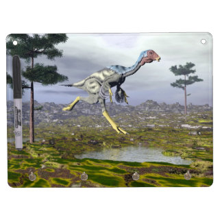Caudipteryx dinosaur - 3D render Dry Erase Board With Key Ring Holder