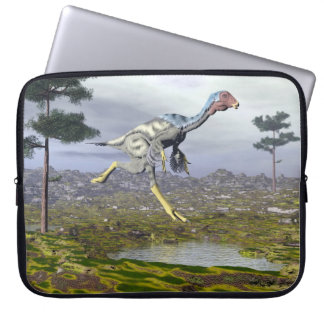 Caudipteryx dinosaur - 3D render Laptop Sleeve