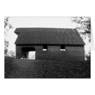 Caughron Barn, Cades Cove, b&w Greeting Card