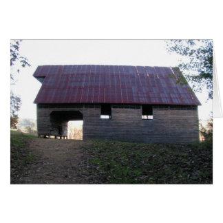Caughron Barn, Cades Cove Greeting Card
