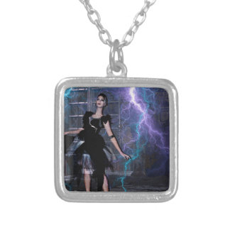 CAUGHT IN THE STORM SILVER PLATED NECKLACE