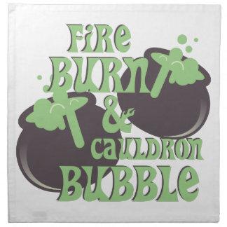 Cauldrom Bubble Napkin