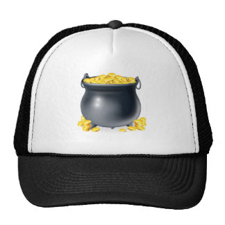 Cauldron full of gold coins trucker hats