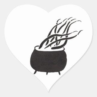 Cauldron Full of Tentacles Heart Sticker