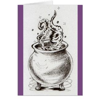 Cauldron greeting card