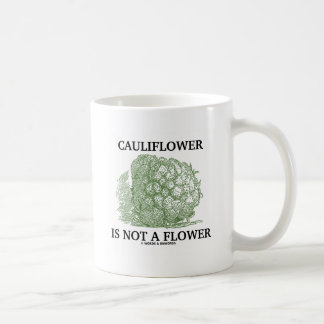 Cauliflower Is Not A Flower (Food For Thought) Mug
