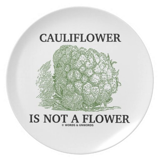 Cauliflower Is Not A Flower (Food For Thought) Dinner Plates