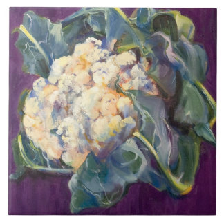 Cauliflower Large Square Tile