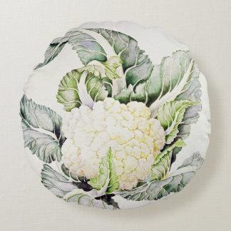 Cauliflower Study 1993 Round Cushion