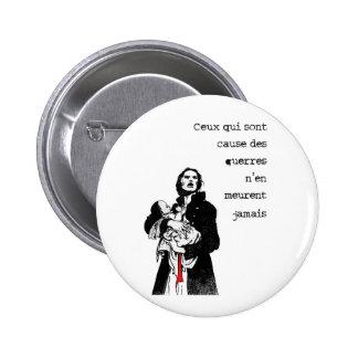 Causes !! 6 cm round badge