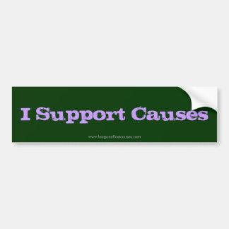 """Causes"" bumper sticker"