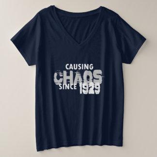 Causing Chaos Since 1929 T-Shirt Bday Gift Shirt