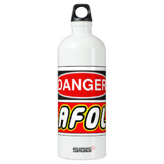 CAUTION AFOL by Customise My Minifig Water Bottle