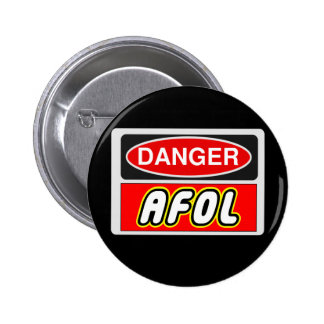 CAUTION AFOL by Customize My Minifig Pins