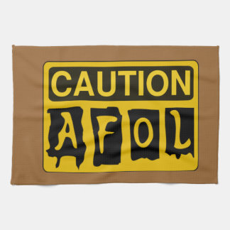 CAUTION AFOL by Customize My Minifig Towel