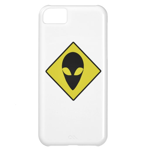 CAUTION ALIEN COVER FOR iPhone 5C