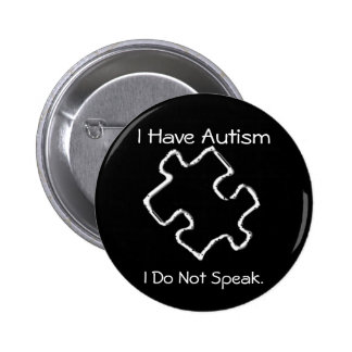 Caution Autism 6 Cm Round Badge