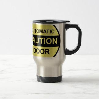 Caution Automatic Door Travel Mug