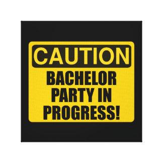 Caution Bachelor Party Progress Canvas Print