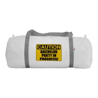 Caution Bachelor Party Progress Gym Bag