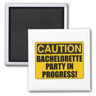 Caution Bachelorette Party Progress Magnet
