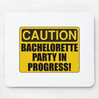 Caution Bachelorette Party Progress Mouse Pad