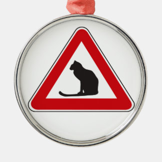 Caution Cats, Traffic Sign, Italy Christmas Ornaments