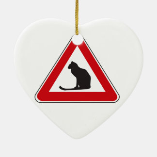 Caution Cats, Traffic Sign, Italy Christmas Tree Ornament