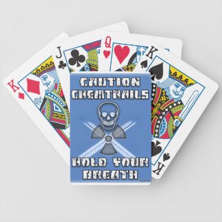 Caution Chemtrails Hold Your Breath Bicycle Playing Cards