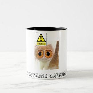 Caution: Contains Caffeine Two-Tone Coffee Mug