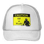 Caution DJ At Work Cap