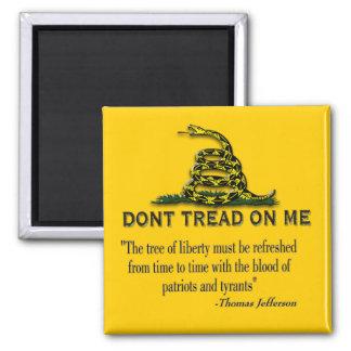 CAUTION Don t Tread On Me FLAG Fridge Magnet