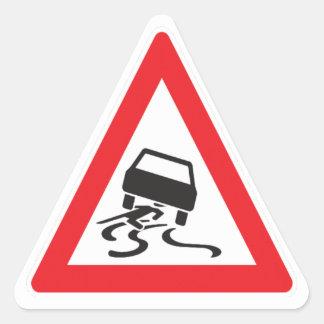Caution driver triangle sticker