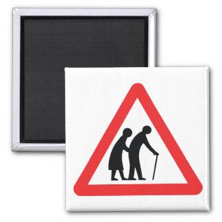 CAUTION Elderly People - UK Traffic Sign Magnet