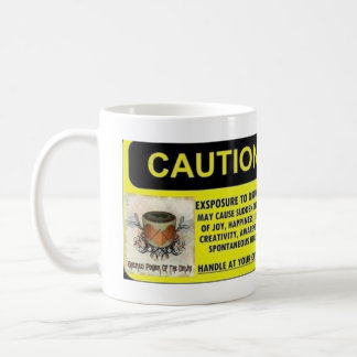 Caution Exposure to Drumming Mug
