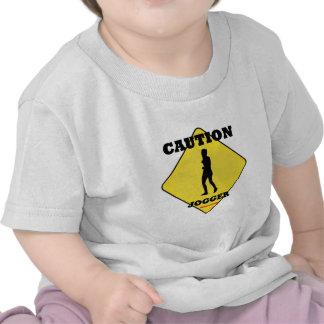 Caution Female Jogger Tee Shirt