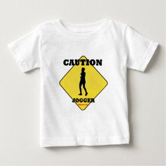 Caution_Female_Jogger Tshirt