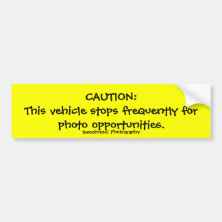 Caution, Frequent Stops Bumper Sticker