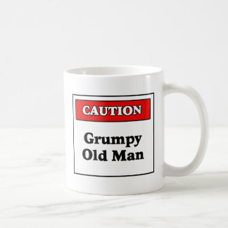 Caution Grumpy Old Man Classic White Coffee Mug