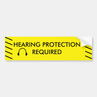 CAUTION HEARING PROTECTION REQUIRED BUMPER STICKER