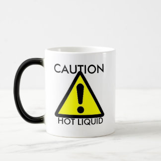 Caution: Hot Liquid Heat Sensitive Mug